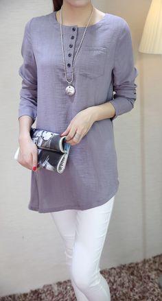 2016春夏新款棉麻长袖上衣开衫长款t恤时尚潮流亚麻女装-淘宝网