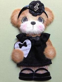 Music Boutique Present Tear Bear Scrapbook Paper Piecing ELITE4U 3PAPERWISHES | eBay