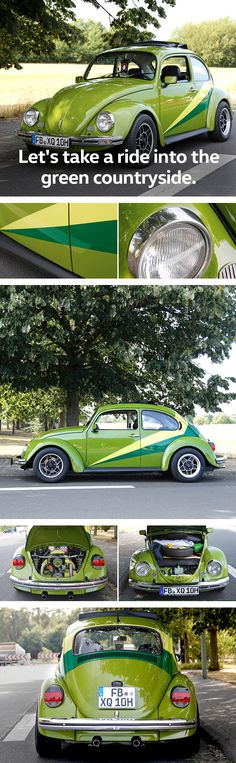 This vintage Beetle bug is a true evergreen, not only in terms of colour. If you love vintage Volkswagen models, you might want to check out the brief overview of the season's finest Volkswagen fan gatherings and vintage car rallies around the globe presented by Das Auto. Magazine.