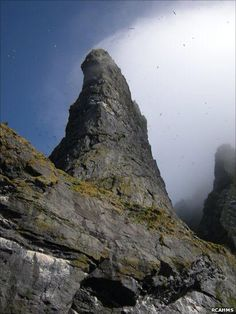 Images of remote Boreray taken by Royal Commission on the Ancient and Historical Monuments of Scotland. St Kilda Scotland, People With Red Hair, Sheep Breeds, Orkney Islands, Irish Sea, Outer Hebrides, Historical Monuments, North Sea, Sea Birds