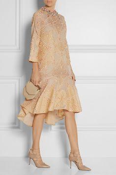 Biyan|Laurie embellished cotton-blend cloqué dress|NET-A-PORTER.COM