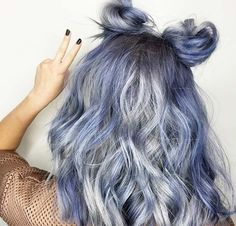 Blue Denim Hair Colors: Bunny Blue Jean Waves #denimhair #bluehair
