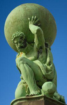 Statue of the god Atlas at Portmeirion. Close up of statue of Atlas located at P , Statue Tattoo, Atlas Sculpture, Sculpture Art, Greek Statues, Angel Statues, Atlas Tattoo, Face Art, Art Faces, Greek Mythology