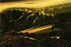 Santa Cruz Mountains - Eyvind Earle