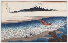 HOKUSAI (1760-1849) Les 36 vues du mont Fuji. Fuji Sanjûrokkei Éditeur: Eijudô. Année: Vers 1829 - 1833. Format: Oban yoko-e.Planche 8 - Busho Tamagawa. La rivière Tama dans la province de Musashi. (L:… - Thierry Desbenoit et Associés - 23/03/2015