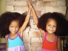 Natural hair - the adventurous twin girls!
