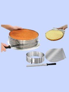 Zenker 8 Layer Cake Slicing Kit 7 Layer Cake Decorating on Ebay...getting it.