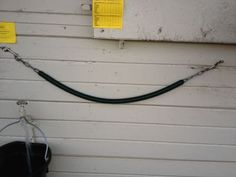 Using stall guards and stall chains safely around horses!   http://www.proequinegrooms.com/index.php/tips/equipment-and-tack/the-basics-of-stall-chains-and-stall-guards/
