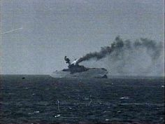 Poignant image.......The final moments of the carrier HMS Eagle 11 Aug 1942 | by umbry101