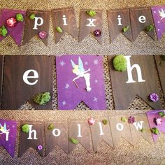 Pixie hollow party banner