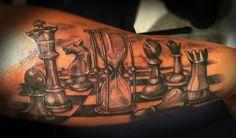 TATTOOS - chess board tattoo  Tattoos by Becky www.facebook.com/tattoosbybecky