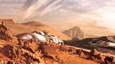 Mars Station Replica domes, Marina Ortega on ArtStation at https://www.artstation.com/artwork/2bG4e