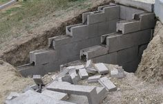 A staircase made of reinforced concrete