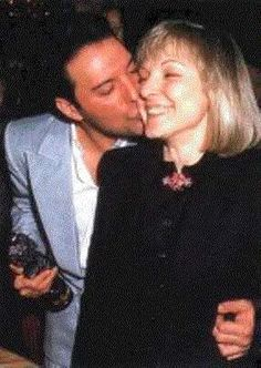 Mary Austin and Freddie Mercury. Freddie's old girlfriend but BFF haha sorry for the Freddy spam but I love him