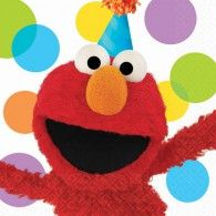 Elmo is here to wish your little one a very happy birthday! The Elmo's Party Lunch Napkin features a cheerful Elmo on a white background accented with colorful polka dots. Create the ultimate Elmo party with the rest of the Elmo's Party line! Elmo Party Supplies, Sesame Street Party Supplies, Birthday Supplies, Elmo Sesame Street, Sesame Street Birthday, Elmo Birthday, 2nd Birthday Parties, Birthday Ideas, Happy Birthday