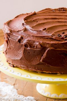 How to make the best, most buttery and rich marble cake from scratch! Marbel Cake, Decadent Chocolate Cake, Chocolate Frosting, Delish Cakes, Marble Cake Recipes, Sallys Baking Addiction, Occasion Cakes, Homemade Cakes, Baking Recipes