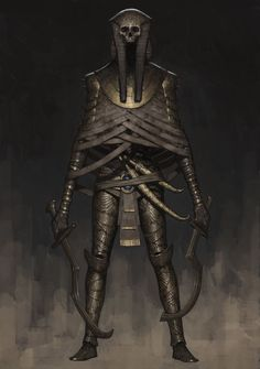 Mummy Warrior, Ariel Perez - The Army of the Damned, foot soldiers to Dredd Balbolyndous, assist the Dark Disciples in their att - Dark Fantasy Art, Fantasy Inspiration, Character Design Inspiration, Art Zombie, Tomb Kings, World Of Darkness, Creature Concept, Monster Art, Egyptian Art
