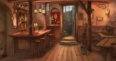 Flooby Nooby: Backgrounds from The Illusionist / L'Illusionniste - Directed by Sylvain Chomet - Created by Pathé and Django Films