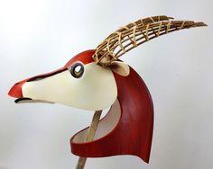 Graceful Gazelle Mask. Handmade. African animal by TentacleStudio