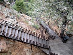 Seven Falls, Colorado Springs, Colorado.  Scared the dickens out of me!