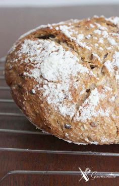 Pão rústico integral fermento natural (kefir)