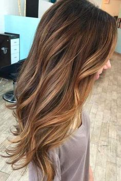 Caramel Ombre Hair Color for Brunettes 2