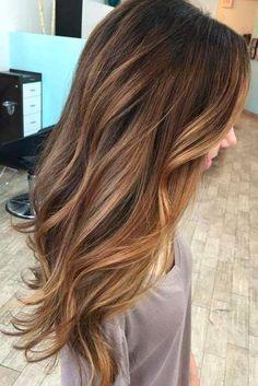 Caramel Ombre Hair Color for Brunettes 2