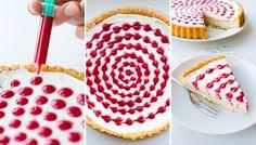 Aus einem schlichten Kuchen wird mit etwas Fingerspitzengefühl ein liebenswertes Statement. Dazu...