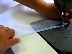 Tuto : faire un ourlet roulotté sur un voilage - YouTube