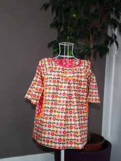 Robe manches longues raglan dans un tissu fleuri : Mode filles par lilobulle