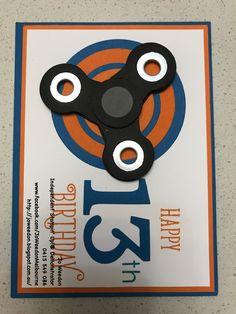 Moving Fidget Spinner Card #fidgetspinner #stampinup #joweedonmelbourne
