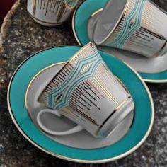 Kütahya Porselen Estel 18 Parça 6866 Kahve Fincan Takımı(Bardaklı)