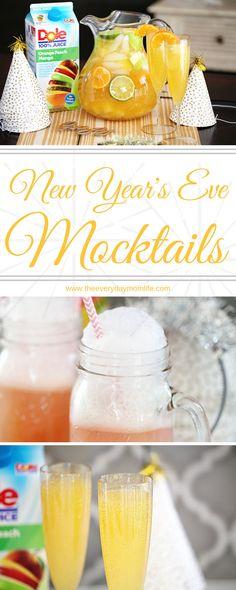 New Year's Eve Mocktails Kids & Adults Will Love AD #SharetheSunshine @DoleSunshine