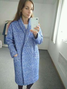 Купить Пальто синяя елочка, двубортное! - пальто, пальто из шерсти, купить пальто, магазин пальто