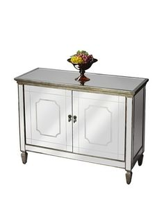 Butler Specialty Company Mirrored 2-Door Console Cabinet