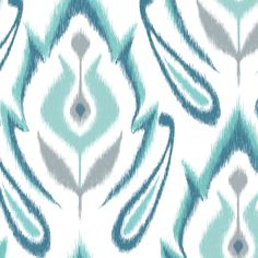 Cool Blue IKAT by pattysloniger