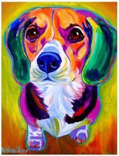 Pop Art beagle.