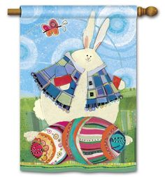 Magnet Works House Flag - Funny Bunny Decorative flag at Garden House Flag at GardenHouseFlags