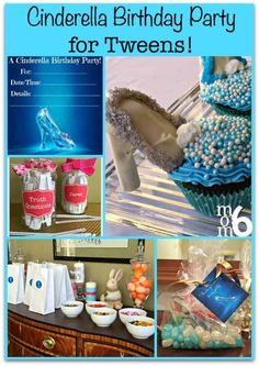 "With the release of the new Disney Cinderella movie, now is the perfect time to plan a Cinderella birthday party for your tween!Cinderella (disambiguation) ""Cinderella"" is a fairy tale. Cinderella may also refer to: Birthday Activities, Kids Birthday Themes, First Birthday Banners, Kids Party Themes, Party Ideas, Disney Birthday, Birthday Party At Home, Birthday Party Games, Birthday Party Invitations"