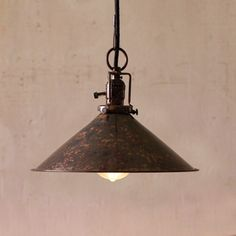 Steel Pendant Lamp.  I'd love this in a kitchen, modern or more rustic.