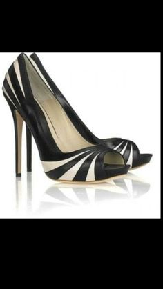 Black adn White High Heels.
