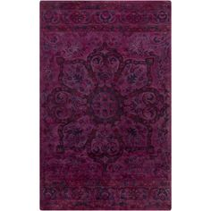 Haeli Rug, Magenta.  The pretty little feminine motif strikes just the right tone on this exquisite over-dyed rug. We love the gorgeous, old world style.