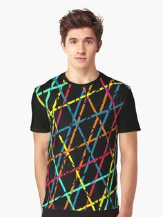 Colorful lines Unisex all over print T-Shirt  by Emily Pigou. Inspired by the 60's era and its psychedelic colors and  style #colorful #tshirt #tshirts #style #fashion  #unisex #clothing #60s #redbubble  #gifts #lines #modern #family #online #retro  #shopping #giftsforher #xmasgifts #christmasgifts #39 #1960 #giftsforhim #60sfashion #art #design #pattern #pop #popart     • Also buy this artwork on home decor, apparel, stickers, and more.