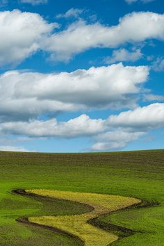 Gorgeous patterns in the fields of the Palouse, Eastern Washington.