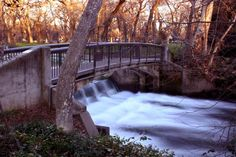 An unusual view of the One Mile Dam in Bidwell Park, one of the largest community parks in the United States. Chico, CA.