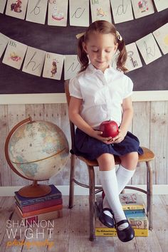 Shannon Wight Photography: Back to School Photography #school #vintage