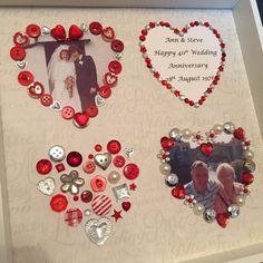 Silver ruby diamond golden wedding by ButtonNButterflies on Etsy