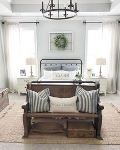 Nice 35 Farmhouse Master Bedroom Decorating Ideas https://crowdecor.com/35-farmhouse-master-bedroom-decorating-ideas/
