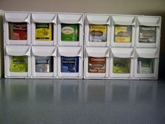 Tea storage idea I NEED to do this and get rid of all those boxes