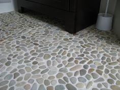 Zen Paradise Golden Natural Pebble Tiles  http://www.zenparadise.net/
